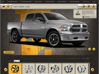 Customize the wheels for a 2015-MY Ram 1500. (PHOTO: Rocket Racing Wheels Screen Capture).