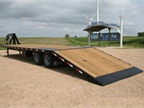 Kiefer Manufacturing has introduced the enhanced steel industrial flatbed trailer line.  (PHOTO: Kiefer Manufacturing)