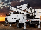 At the Altec AT41 MPS articulating telescopic aerial device. (Photo courtesy of Altec)