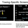 Truck App allows drivers to name each trailer and collect and store accumulated mileage for each – for up to 10 different trailers, displaying helpful information such as accumulated miles for a particular unit, trailer brake gain (with available integrated brake controller) and output.