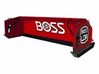 "The LDR box plow features a 70-degree attack angle that ""rolls"" the snow and reduces resistance. Photo courtesy of Boss"