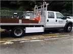 Image of Seattle DOT F-Series truck equipped with Walker Side Guard courtesy of Walker.