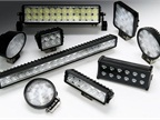 Designed for on- and off-road vehicle use, each waterproof light features an operation lifetime of up to 50,000 hours.