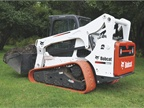 Pictured is the Bobcat T770 with non-marking turf track.