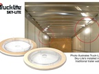 "Truck-Lite Sky-Lite part #'s are 40270C (for 0.05"" aluminum sheets), 40271C (for 0.31"" composite panels) and 40275C (for 0.25"" composite panels)."