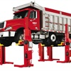 Wireless Mach 4 Mobile Column Lift with Dump Truck