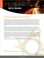Up in Smoke: Too Much Idling Burns Your Money
